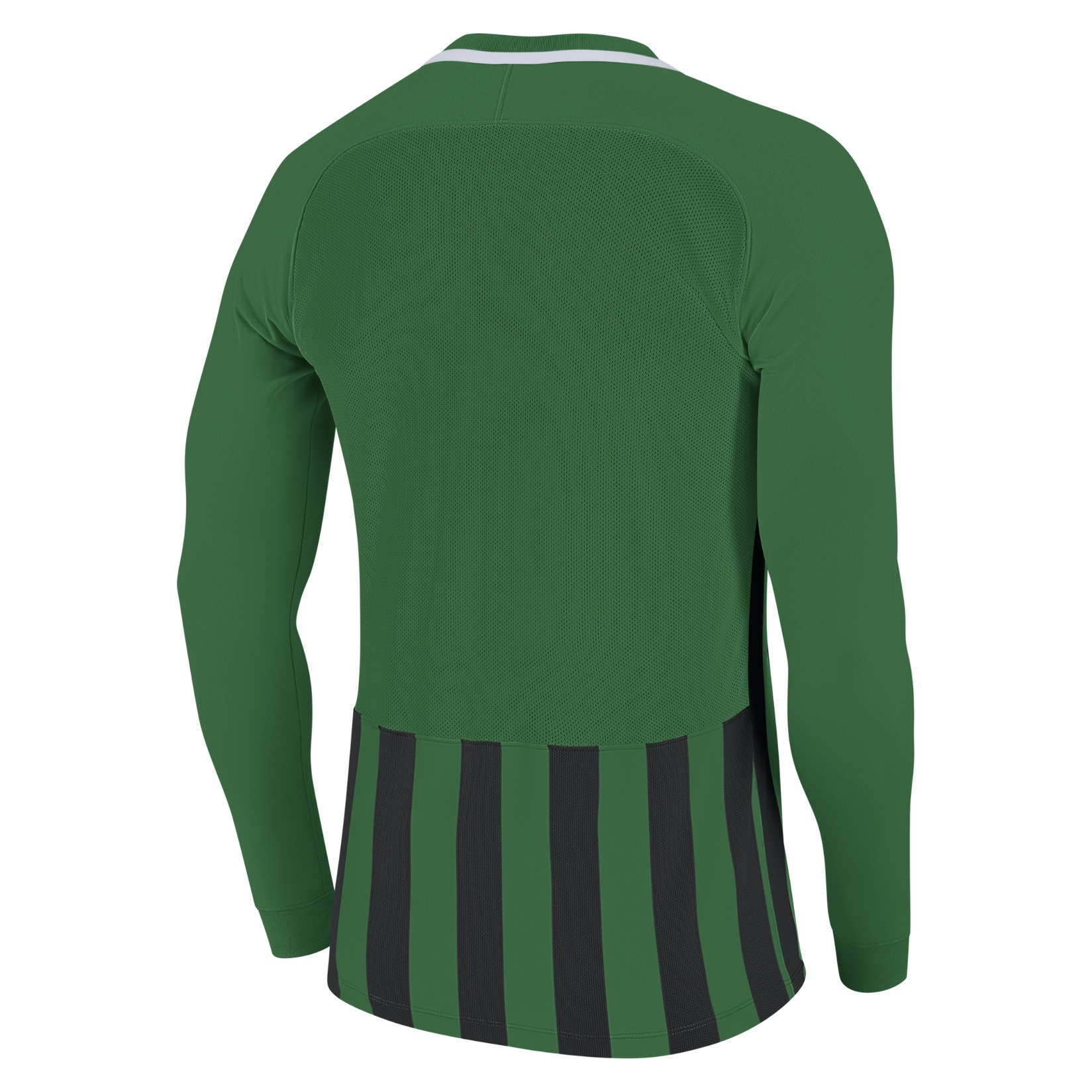 Nike Striped Division III Long Sleeve Football Shirt Pine Green-Black-White-White