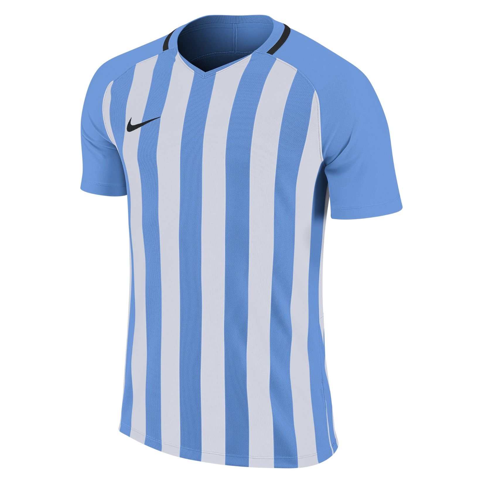 Nike Striped Division III Short Sleeve Shirt University Blue-White-Black-Black