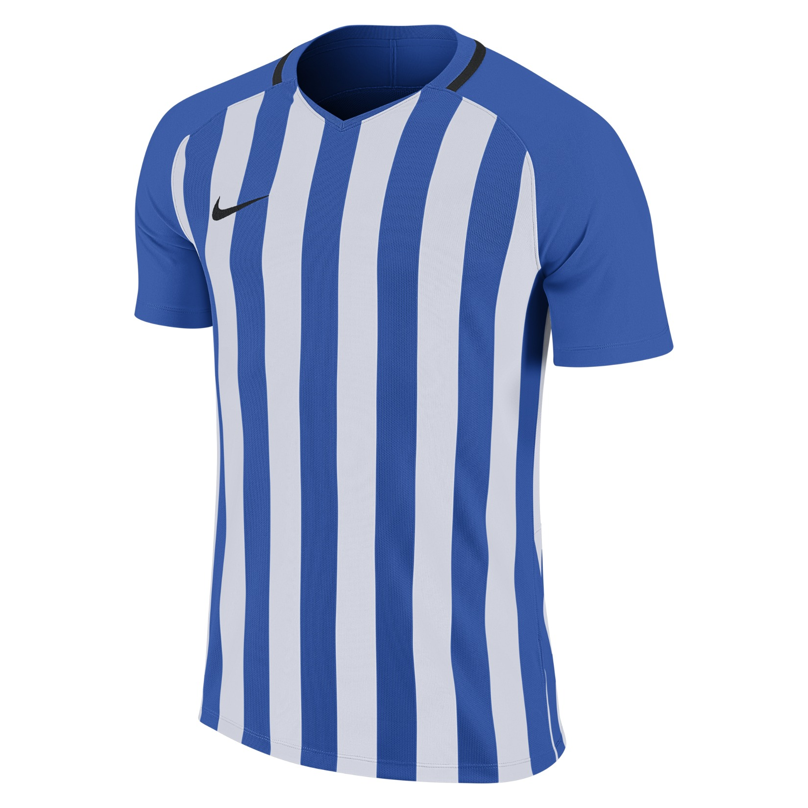 Nike Striped Division III Short Sleeve Shirt Royal Blue-White-Black-Black
