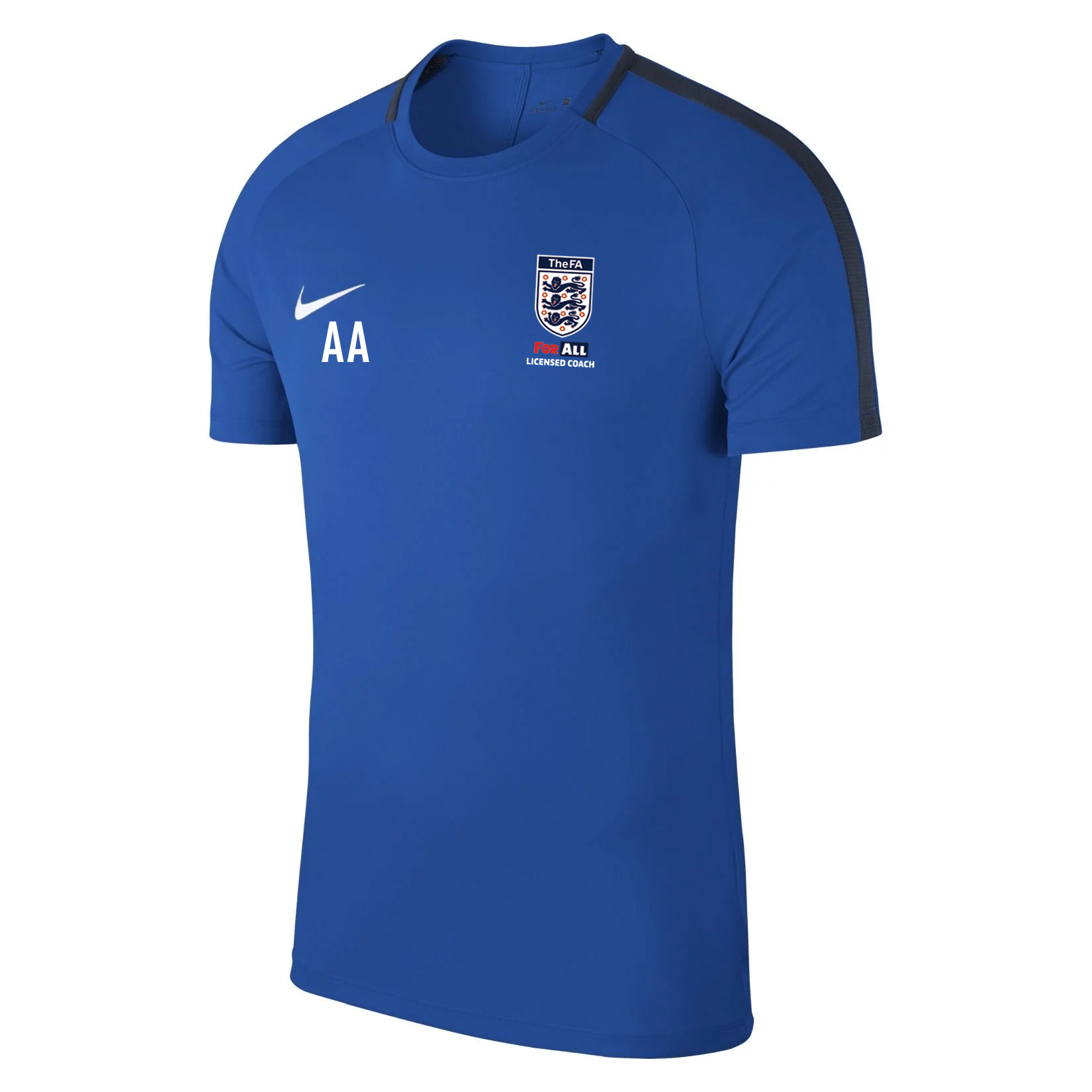Nike Academy 18 Short Sleeve Top (m) Royal Blue-Obsidian-White