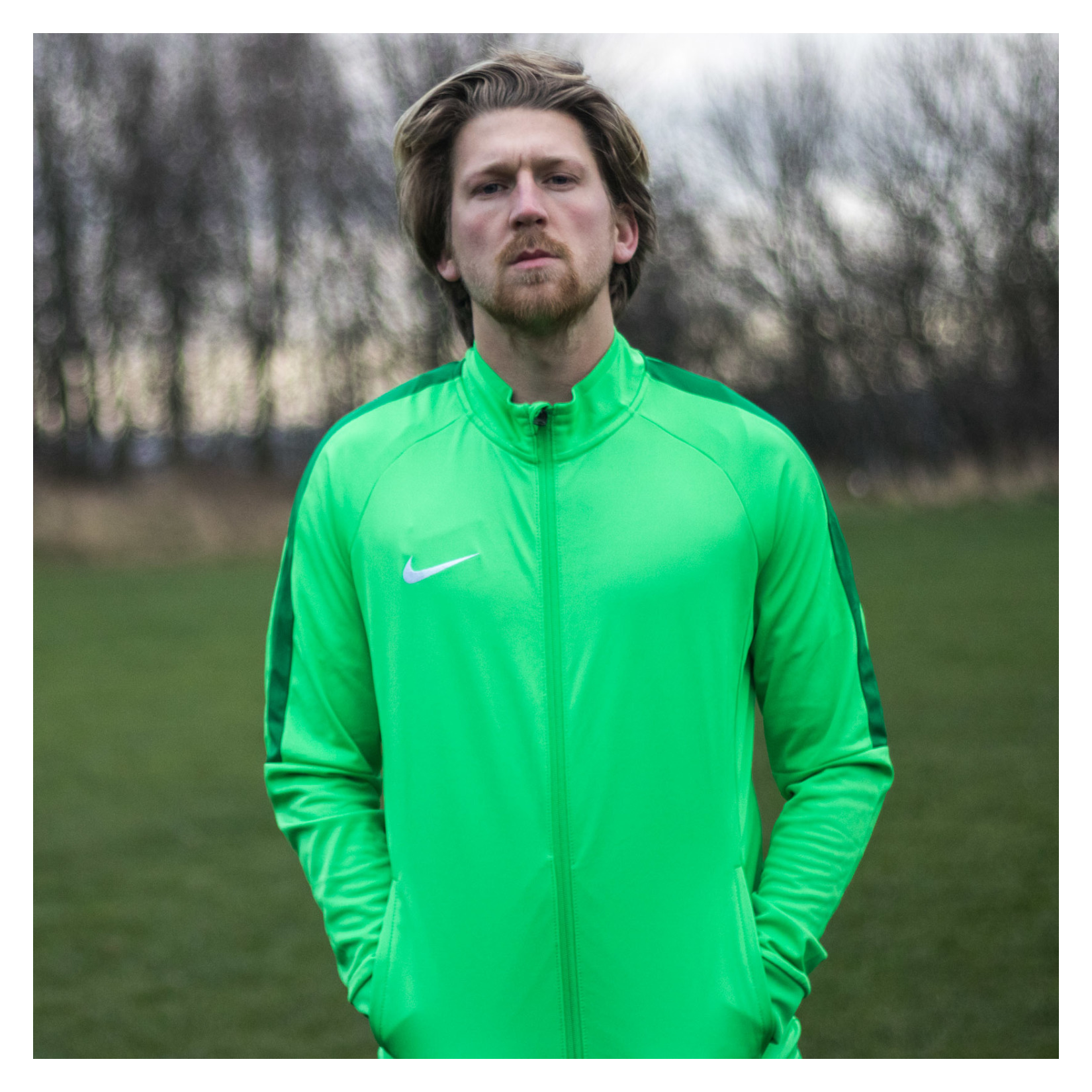 Nike Academy 18 Tracksuit Jacket (m) Lt Green Spark-Pine Green-White