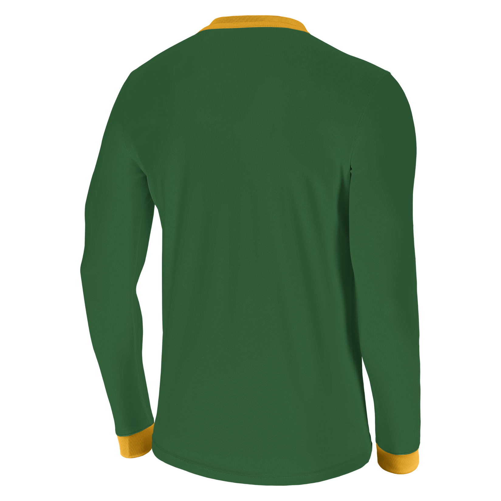 Nike Park Derby II Long Sleeve Shirt Pine Green-University Gold-White