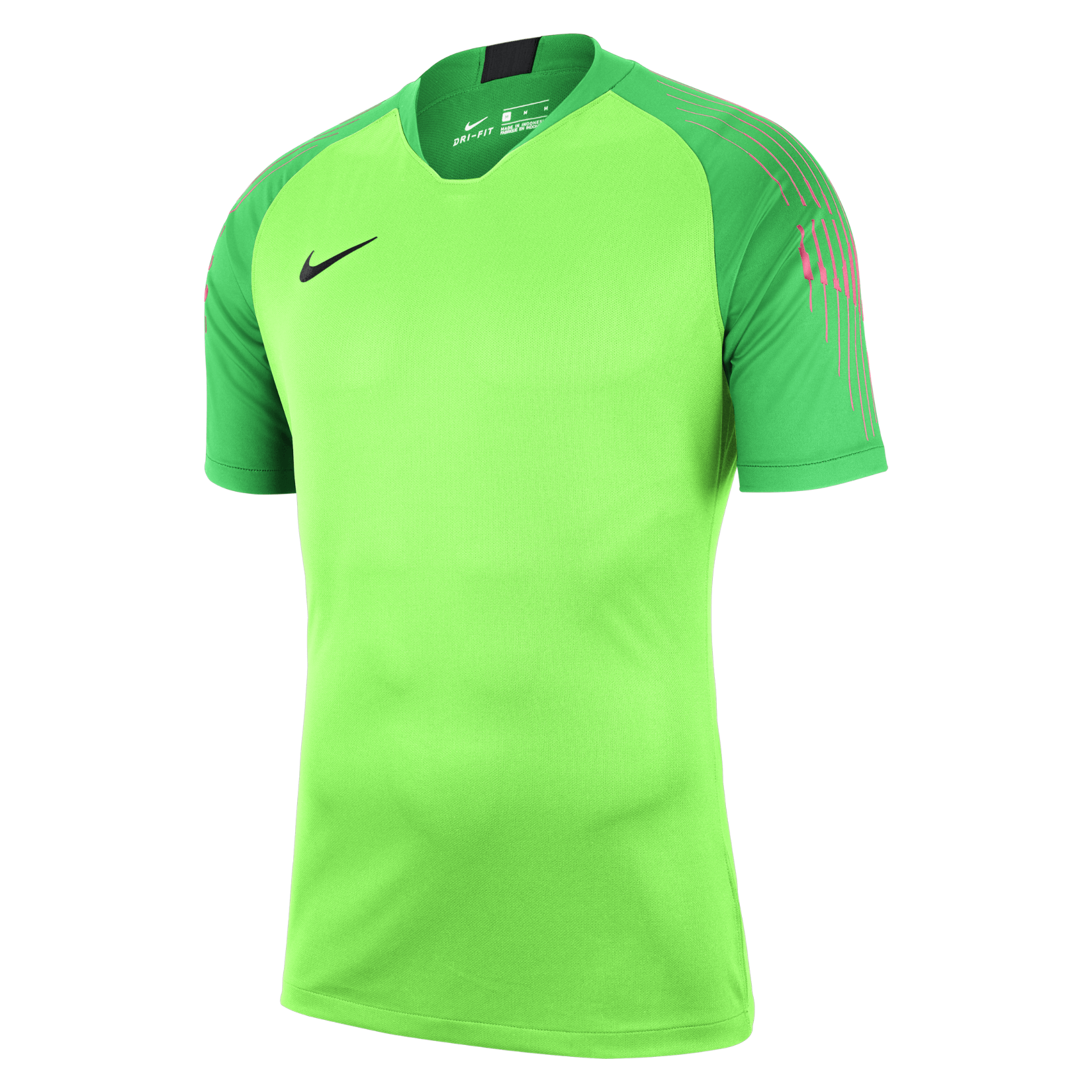 Nike Gardien Short Sleeve Goalkeeper Shirt Green Strike-Green Spark-Black