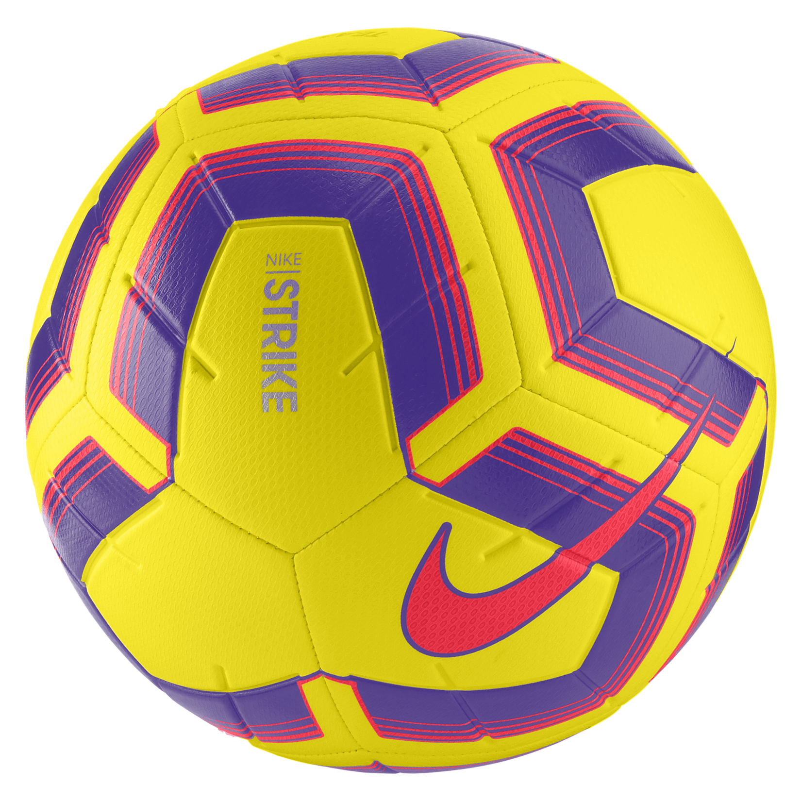 Nike Strike Team Match Ball Yellow-Purple-Flash Crimson