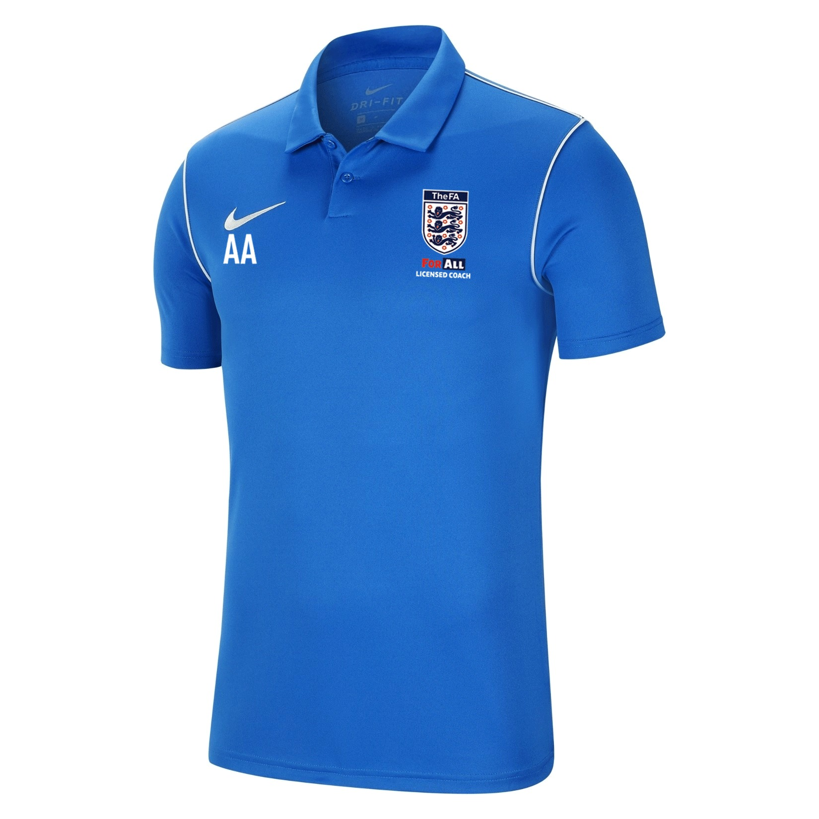 Nike Dri-fit Park 20 Polo Royal Blue-White-White