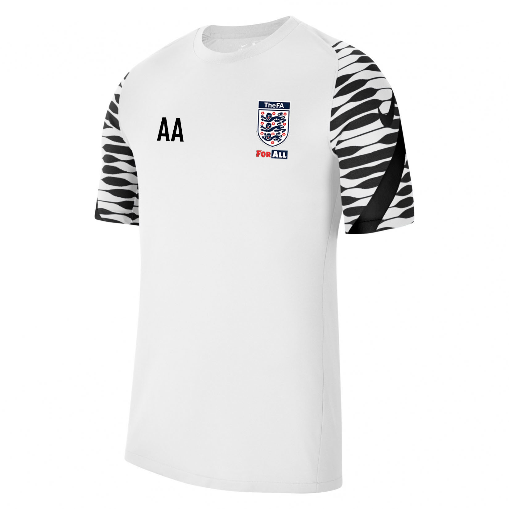 Nike Strike Training Tee (M) White-Black-Black-Black