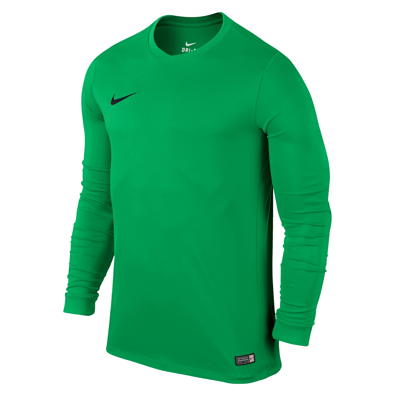 Nike Park VI Long Sleeve Football Shirt Hyper Verde-Black