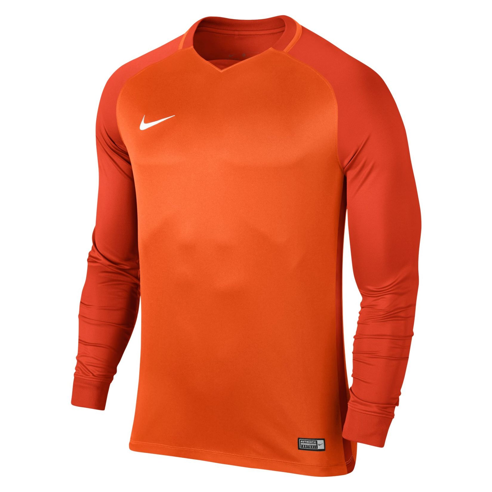 Nike Trophy III Long Sleeve Football Jersey Safety Orange-Team Orange-Team Orange-White