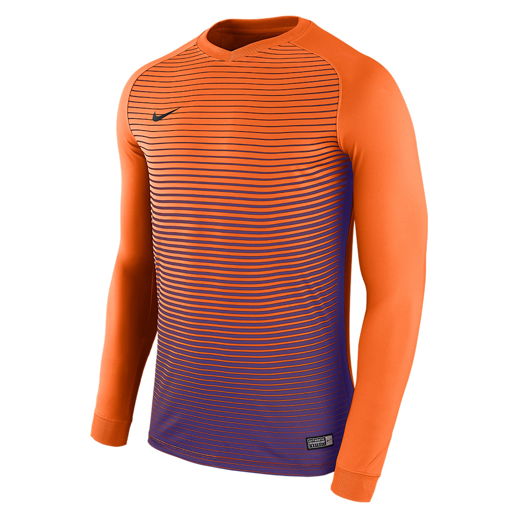 Nike Precision Iv Long Sleeve Football Shirt Safety Orange-Court Purple-Court Purple-Black