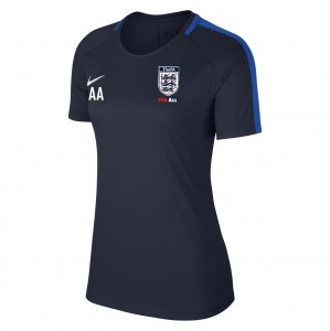Nike Womens Academy 18 Short Sleeve Top (W) Obsidian-Royal Blue-White