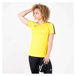 Nike Womens Academy 18 Short Sleeve Top (W) Tour Yellow-Anthracite-Black