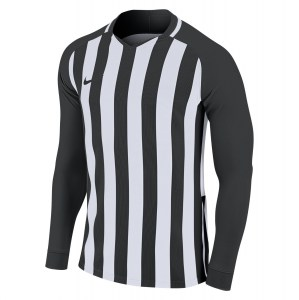 Nike Striped Division III Long Sleeve Football Shirt Black-White-White-Black
