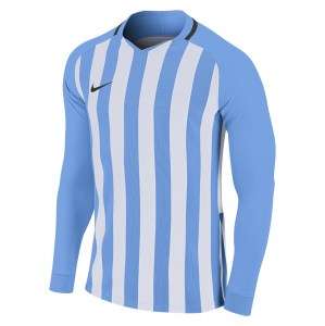 Nike Striped Division III Long Sleeve Football Shirt University Blue-White-Black-Black