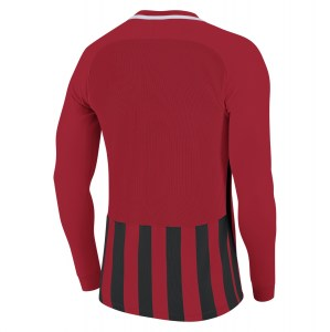Nike Striped Division III Long Sleeve Football Shirt University Red-Black-White-White