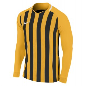 Nike Striped Division III Long Sleeve Football Shirt University Gold-Black-White-White