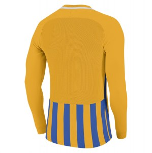 Nike Striped Division III Long Sleeve Football Shirt University Gold-Royal Blue-White-White