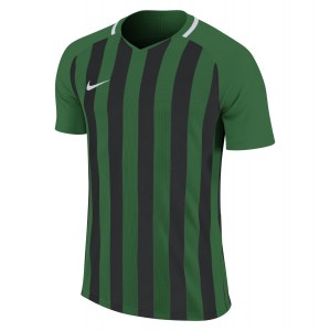 Nike Striped Division III Short Sleeve Shirt Pine Green-Black-White-White