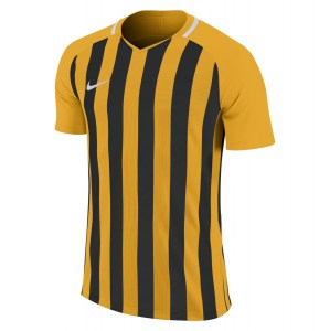 Nike Striped Division III Short Sleeve Shirt University Gold-Black-White-White