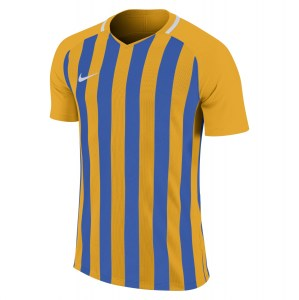 Nike Striped Division III Short Sleeve Shirt University Gold-Royal Blue-White-White