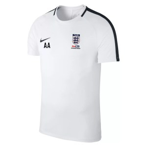 Nike Academy 18 Short Sleeve Top (m) White-Black-Black