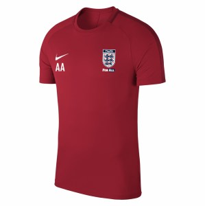 Nike Academy 18 Short Sleeve Top (M) University Red-Gym Red-White