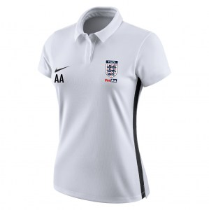 Nike Womens Academy 18 Performance polo (W) White-Black-Black