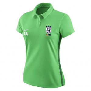 Nike Womens Academy 18 Performance polo (W) Lt Green Spark-Pine Green-White