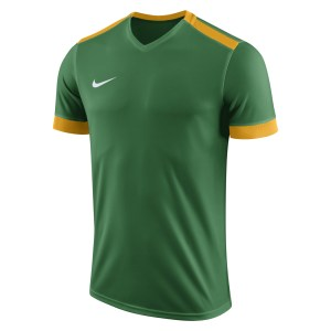 Nike Park Derby II Short Sleeve Shirt Pine Green-University Gold-White