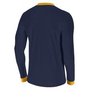 Nike Park Derby II Long Sleeve Shirt Midnight Navy-University Gold-White