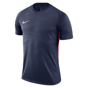 Nike Tiempo Premier Short Sleeve Shirt Midnight Navy-Midnight Navy-Red-White