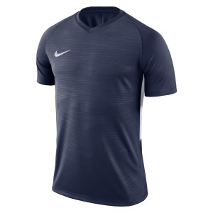 Nike Tiempo Premier Short Sleeve Shirt Midnight Navy-Midnight Navy-White-White
