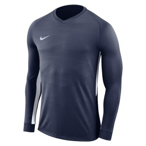 Nike Tiempo Premier Long Football Shirt Midnight Navy-Midnight Navy-White-White