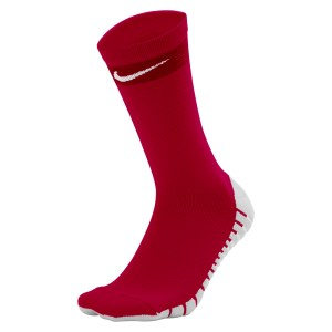 Nike Matchfit Crew Football Socks University Red-Team Red-White