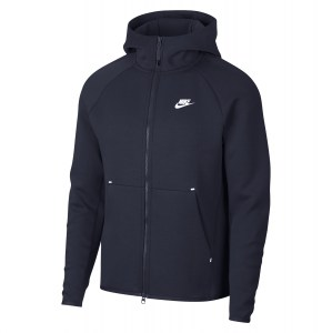Nike Sportswear Tech Fleece Full-zip Hoodie Obsidian-White
