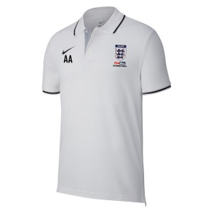 Nike Team Club 19 Polo White-Black