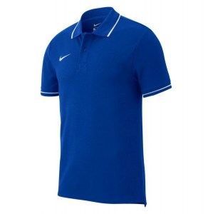 Nike Team Club 19 Polo Royal Blue-White