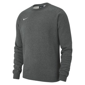 Nike Team Club 19 Crew Sweatshirt Charcoal Heathr-White