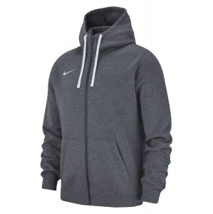 Nike Team Club 19 Full Zip Hoodie Charcoal Heathr-Anthracite-White-White