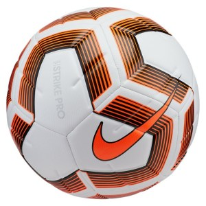 Nike Strike Pro Team Football - Size 4 White-Black-Total Orange-Total Orange