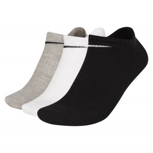 Nike Everyday Lightweight No-Show Training Socks (3 Pair) Multi-Color