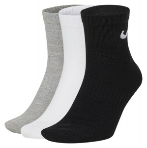 Nike Everyday Lightweight Ankle Training Socks (3 Pair) Multi-Color