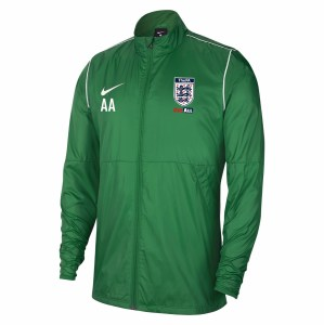 Nike Park 20 Repel Rain Jacket Pine Green-White-White