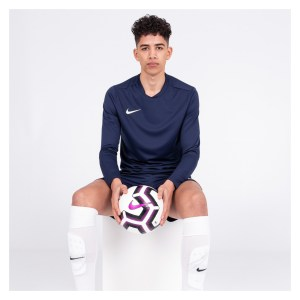 Nike Park VII Dri-FIT Long Sleeve Football Shirt Midnight Navy-White