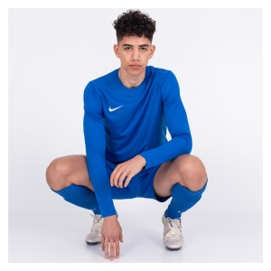 Nike Park VII Dri-FIT Long Sleeve Football Shirt Royal Blue-White
