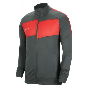 Nike Dri-FIT Academy Pro Knitted Jacket Anthracite-Bright Crimson-White