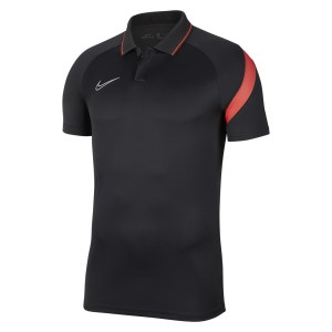 Nike Dri-FIT Academy Pro  Polo Anthracite-Bright Crimson-White