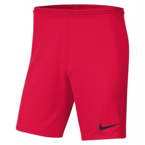 Nike Park III Shorts Bright Crimson-Black