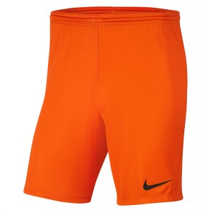 Nike Park III Shorts Safety Orange-Black