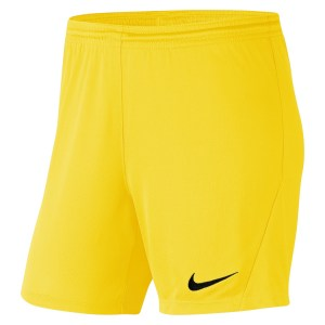 Nike Womens Park III Shorts (W) Tour Yellow-Black