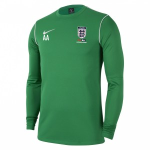 Nike Dri-fit Park 20 Crew Top Pine Green-White-White
